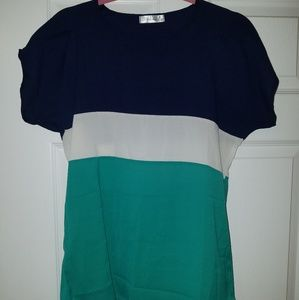 Tops - Blue and teal top
